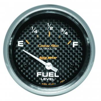 Auto Meter - Auto Meter Carbon Fiber Electric Fuel Level Gauge - 2-5/8 in.