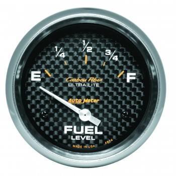 Auto Meter - Auto Meter Carbon Fiber Electric Fuel Level Gauge - 2-5/8 in.