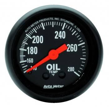 """Auto Meter - Auto Meter Z-Series 2-1/16"""" Oil Temperature Gauge"""