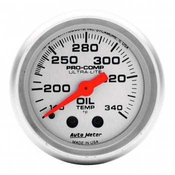 "Auto Meter - Auto Meter Mini Ultra-Lite Oil Tank Temperature Gauge - 2-1/16"" - 140°-340°"