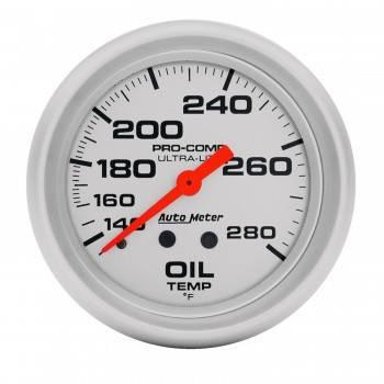 """Auto Meter - Auto Meter Ultra-Lite Oil Temperature Gauge - 2-5/8"""" - 140°-280°"""