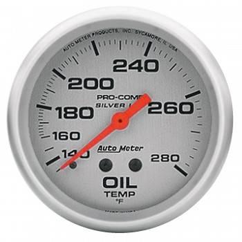 """Auto Meter - Auto Meter Liquid-Filled Oil Temperature Gauges - 2-5/8"""" - 140°-280°"""