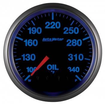 Auto Meter - Auto Meter Elite Series Oil Temperature Gauge - 2-1/16""