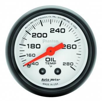 """Auto Meter - Auto Meter Phantom Oil Temperature Gauge - 2-1/16"""" - 140-280° F"""