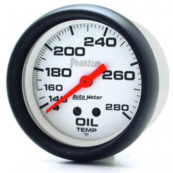 "Auto Meter - Auto Meter Phantom Oil Temperature Gauge - 2-5/8"" - 140°-280°"