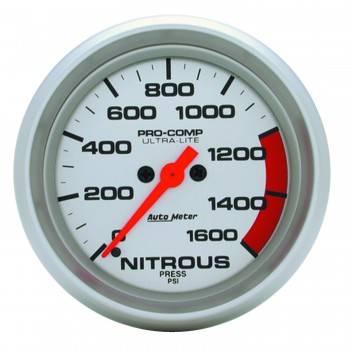 Auto Meter - Auto Meter Ultra-Lite Electric Nitrous Pressure Gauge - 2-5/8 in.