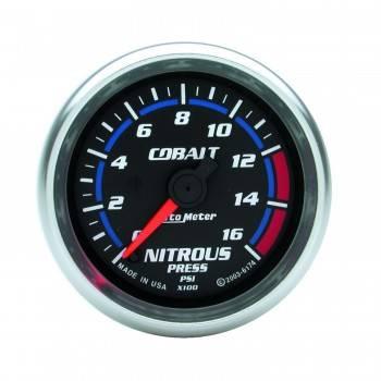 Auto Meter - Auto Meter Cobalt Electric Nitrous Pressure Gauge - 2-1/16 in.