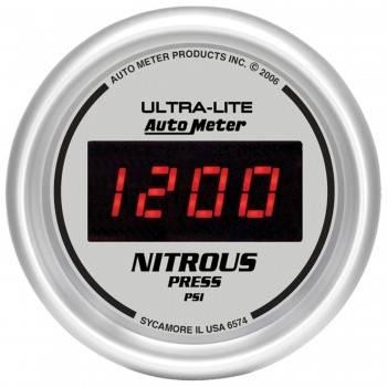 Auto Meter - Auto Meter Ultra-Lite Digital Nitrous Pressure Gauge - 2-1/16 in.