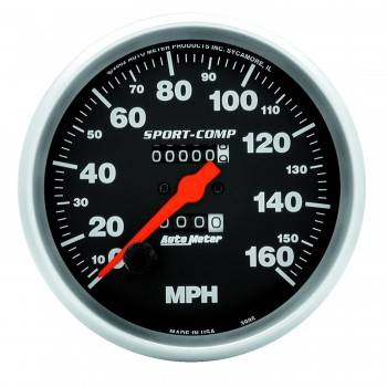 Auto Meter - Auto Meter Sport-Comp In-Dash Mechanical Speedometer - 5 in.