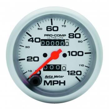 Auto Meter - Auto Meter Ultra-Lite In-Dash Mechanical Speedometer - 3-3/8 in.