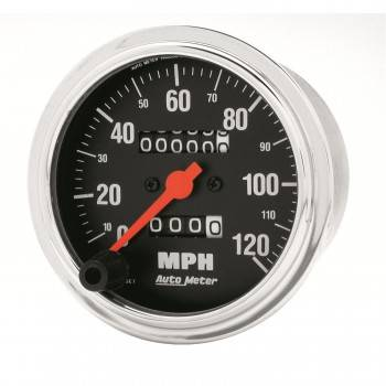 Auto Meter - Auto Meter Traditional Chrome - Mechanical Speedometer - 3-3/8 in.
