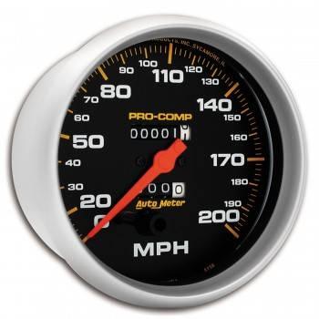 Auto Meter - Auto Meter Pro-Comp Mechanical In-Dash Speedometer - 5 in.
