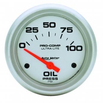 "Auto Meter - Auto Meter Ultra-Lite Electric Oil Pressure Gauge - 2-5/8"" - 0-100 PSI"