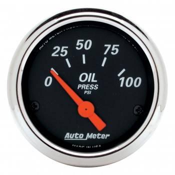 """Auto Meter - Auto Meter Designer Black Oil Pressure Gauge - 2-1/16"""""""