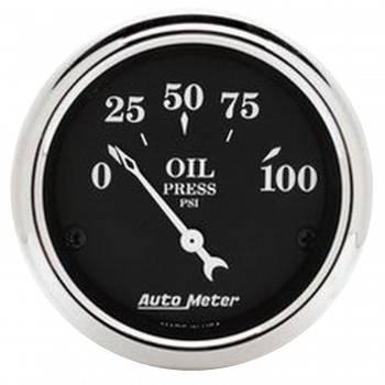 """Auto Meter - Auto Meter Old Tyme Black Oil Pressure Gauge - 2-1/16"""""""