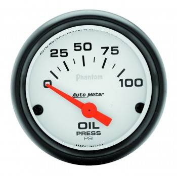 "Auto Meter - Auto Meter Phantom Electric Oil Pressure Gauges - 2-1/16"" - 0-100 PSI"