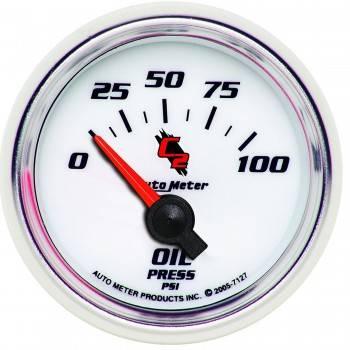 "Auto Meter - Auto Meter C2 Electric Oil Pressure Gauge - 2-1/16"""