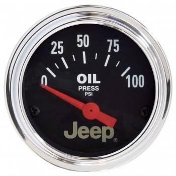 Auto Meter - Auto Meter 2-1/16 Oil Pressure Gauge - Jeep Series