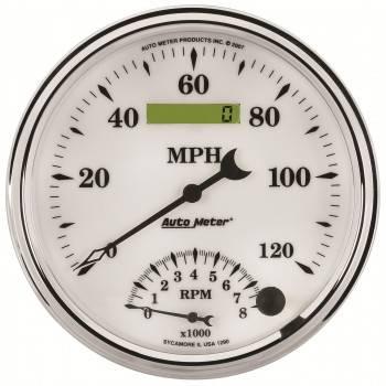 Auto Meter - Auto Meter Old Tyme White II Tachometer /Speedometer Combo - 5 in.
