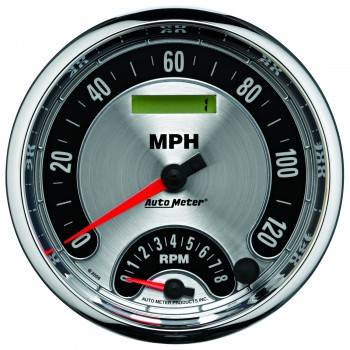 Auto Meter - Auto Meter American Muscle Tachometer / Speedometer Combo - 5 in.