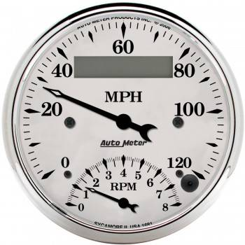 Auto Meter - Auto Meter Old Tyme White Tachometer / Speedometer Combo - 3-3/8 in.