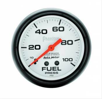 Auto Meter - Auto Meter Phantom Mechanical Fuel Pressure Gauge - 2-5/8""