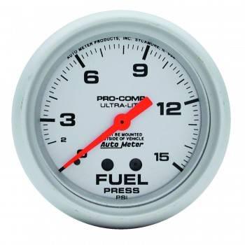 """Auto Meter - Auto Meter Ultra-Lite Fuel Pressure Gauge - 2-5/8"""" - 0-15 PSI"""