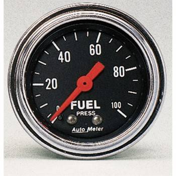 Auto Meter - Auto Meter Traditional Chrome - Mechanical Fuel Pressure Gauge - 2-1/16""