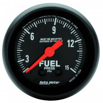 "Auto Meter - Auto Meter Z-Series 2-1/16"" Electric Fuel Pressure Gauge - 0-15 PSI"