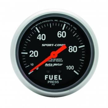 """Auto Meter - Auto Meter Sport-Comp Mechanical Fuel Pressure Gauge - 2-5/8"""""""