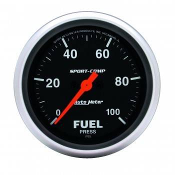 """Auto Meter - Auto Meter Sport-Comp Electric Fuel Pressure Gauge - 2-5/8"""""""
