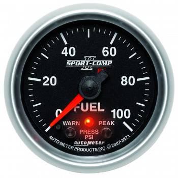 """Auto Meter - Auto Meter Sport-Comp PC Fuel Pressure Gauge - 2-1/16"""""""
