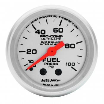 Auto Meter - Auto Meter Ultra-Lite Mechanical Fuel Pressure Gauge - 2-1/16""