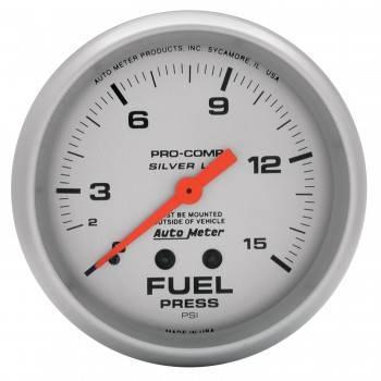 """Auto Meter - Auto Meter Liquid-Filled Fuel Pressure Gauges - 2-5/8"""" - 0-15 PSI"""