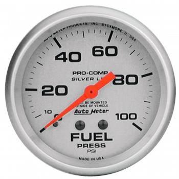 """Auto Meter - Auto Meter Liquid-Filled Fuel Pressure Gauges - 2-5/8"""" - 0-100 PSI"""