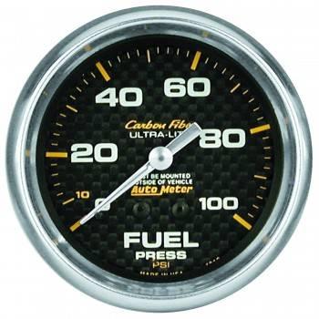 "Auto Meter - Auto Meter Carbon Fiber Fuel Pressure Gauge - 2-5/8"" - 0-15 PSI"