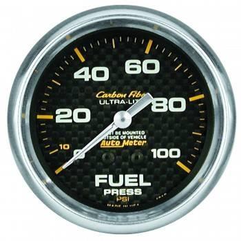 "Auto Meter - Auto Meter Carbon Fiber Fuel Pressure Gauge - 2-5/8"" - 0-100 PSI"