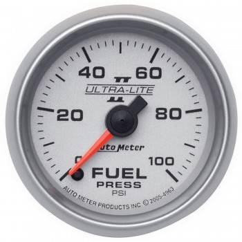 """Auto Meter - Auto Meter Ultra-Lite II Electric Fuel Pressure Gauge - 2-1/16"""""""