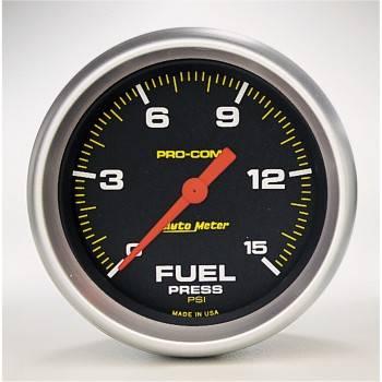 "Auto Meter - Auto Meter Pro-Comp Electric Fuel Pressure Gauge - 2-5/8"" - 0-15 PSI"