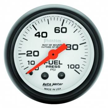 Auto Meter - Auto Meter Phantom Mechanical Fuel Pressure Gauge - 2-1/16""