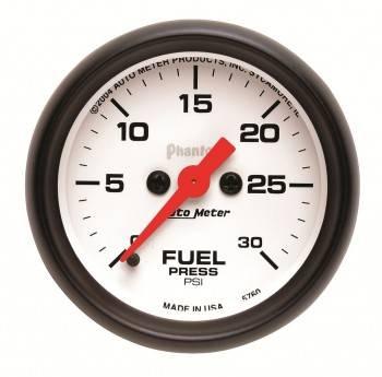 "Auto Meter - Auto Meter Phantom Electric Fuel Pressure Gauge - 2-1/16"""