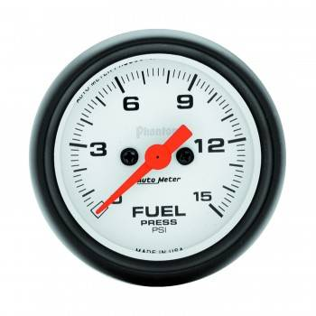 "Auto Meter - Auto Meter Phantom Electric Fuel Pressure Gauge - 2-1/16"" - 0-15 PSI"
