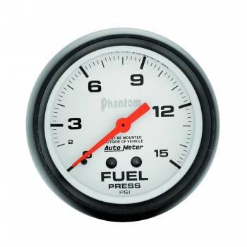 Auto Meter - Auto Meter Phantom uel Pressure Gauge - 2-5/8 - F0-15 PSI