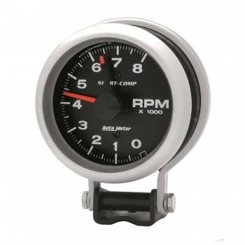 "Auto Meter - Auto Meter 8,000 RPM Sport-Comp Tachometer - 3-3/4"""