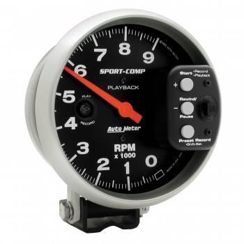"Auto Meter - Auto Meter Sport-Comp Playback Tachometer - 5"""