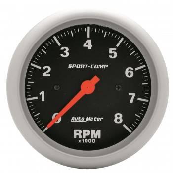 """Auto Meter - Auto Meter 8,000 RPM Sport-Comp 3-3/8"""" In-Dash Tachometer"""
