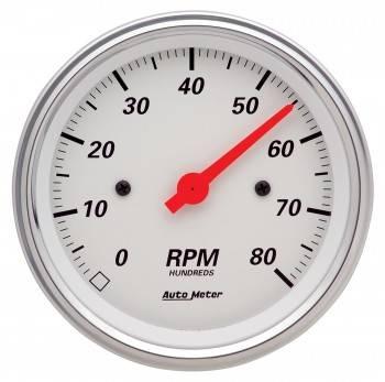 """Auto Meter - Auto Meter Arctic White Electric Tachometer - 3-3/8"""""""