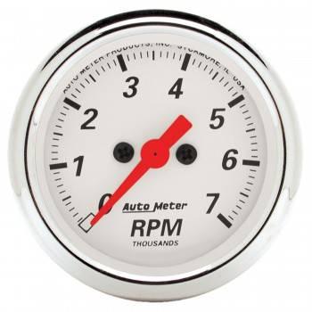 """Auto Meter - Auto Meter Arctic White Electric Tachometer - 2-1/16"""""""