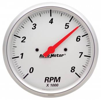 """Auto Meter - Auto Meter Arctic White Electric Tachometer - 5"""""""
