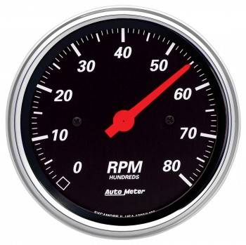 Auto Meter - Auto Meter Designer Black In-Dash Electric Tachometer - 3-3/8""